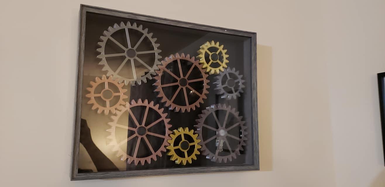 124689148_10215199487015626_6728736297855405326_o.jpg Download STL file Wall Gears V2  • 3D print template, SPEKERDUDE