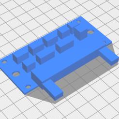 X5SA_Breakout_Lower.png Download free STL file TRonXY X5SA Breakout Board Mock Up • 3D printer model, jTron