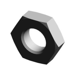 uni_en_28675-m8x1-1-4_640x480_iso.jpg Download free STL file Hexagon thin nut - fine metric pitch - Grades A and B - Symbol HM • 3D printable design, TraceParts