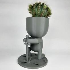 knight planter1.jpg Download STL file Knight planter • 3D printable model, 3DUNYAX