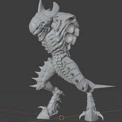 thumbnail.jpg Download free STL file Bug warrior body, without weapons • 3D print object, malakim