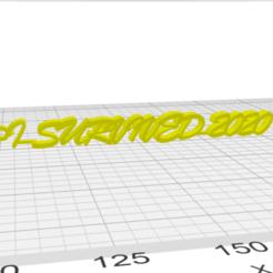 Ekran Görüntüsü (60).png Download STL file I Survived 2020 Keychain • 3D printable template, Rubiks3D