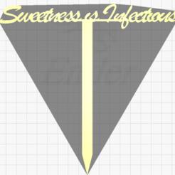 Ekran Görüntüsü (61).png Download STL file Sweetnes is Infectious Cake Tag • Object to 3D print, Rubiks3D