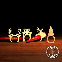 untitled1.jpg Télécharger fichier STL Porte-serviette à anneau de Noël pour décorer la table • Modèle à imprimer en 3D, Filionix