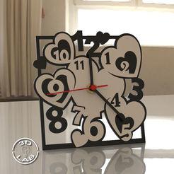 untitled.42.jpg Télécharger fichier STL Horloge de table moderne à cœur • Modèle pour impression 3D, Filionix