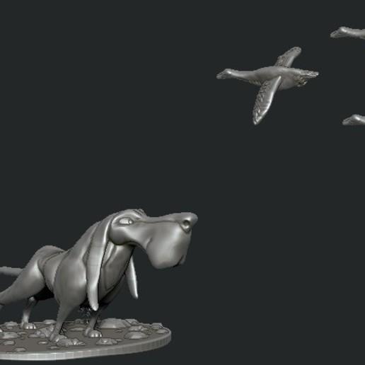 Download STL file hound • 3D printing model, c4dquba