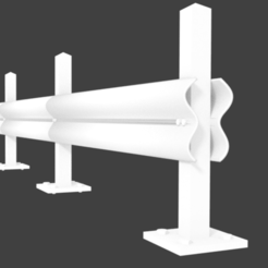 untitled1111.png Download 3DS file Road Safety Barrier guard rail • Model to 3D print, ismael2020