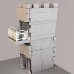 torre e templo 2.png Download OBJ file greek tower • Object to 3D print, ismael2020