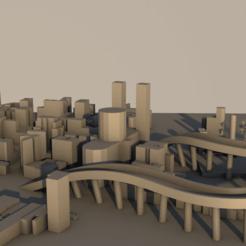 city11.png Télécharger fichier 3DS La ville en 3D • Modèle à imprimer en 3D, ismael2020