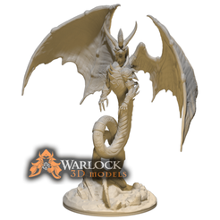 guardian dragon_1.png Download STL file Guardian dragon -Pathfinder • Model to 3D print, warlock3dmodels