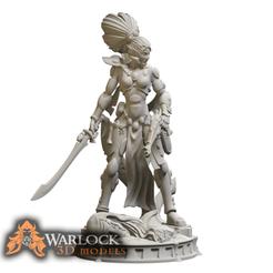 SE Bombshell_1.png Download STL file Space Elf Bombshell figurine • Model to 3D print, warlock3dmodels