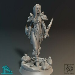 Render02_02.jpg Download STL file Adventurer - Female Thief • Object to 3D print, tri_fin_studio