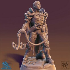 Render01.jpg Download STL file Adventurer - Male Thief • 3D printer object, tri_fin_studio
