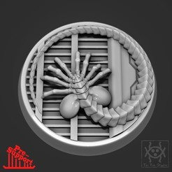 FaceHugger_OnFloor.jpg Download free STL file Face hugger and Xenomorph Eggs • Template to 3D print, tri_fin_studio
