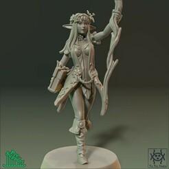 NewRender_02.jpg Download STL file Adventurer - Elf Sorceress • Design to 3D print, tri_fin_studio