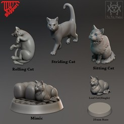 All_cats.jpg Download STL file Companion Cats pack • 3D printer design, tri_fin_studio