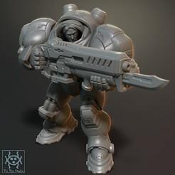Marine01.jpg Download free STL file Starcraft Marines • Design to 3D print, tri_fin_studio