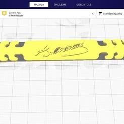 Screenshot_3.jpg Download STL file Ataturk • 3D printing template, civantahir