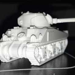 Download free STL file Sherman Tank • 3D printable design, civantahir