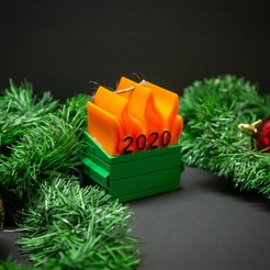 IMG_5232.jpg Download STL file 2020 Dumpster Fire • 3D printing model, danielryanj