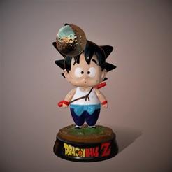 Render Kid Goku 1 .11.jpg Télécharger fichier STL Goku kid • Objet imprimable en 3D, Nitro3D