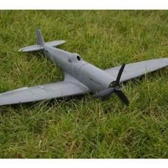5b980eff417cc2acdbee88d932764525_preview_featured.jpg Télécharger fichier STL gratuit Avion RC Spitfire : pièces imprimables en 3D • Modèle pour impression 3D, knadityas92