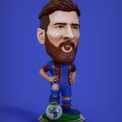 messi_keyshots_barsa_solo.jpg Download STL file Messi chibi sculpture • 3D printing design, zenattipaul