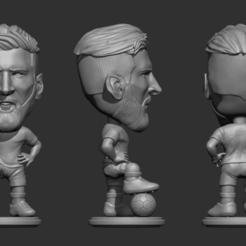 Descargar archivo STL Messi chibi escultura  • Plan para la impresión en 3D, zenattipaul