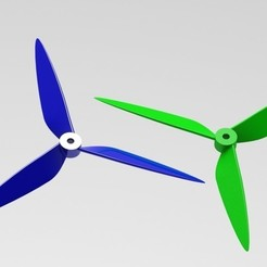 Preview1.jpg Download 3MF file Quadcopter Propeller (3 Blades) • 3D printing template, DesignHub