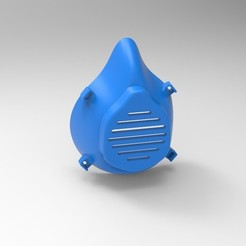 Preview1.jpg Download free STL file Covid-19 Face Mask • Object to 3D print, DesignHub