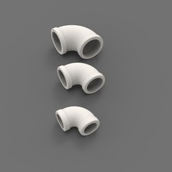 Preview1.jpg Télécharger fichier STL Coude 90° fileté-1'', 1/2'', 3/4'' • Modèle à imprimer en 3D, DesignHub