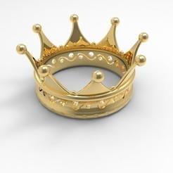 Preview1.jpg Download STL file Crown • 3D printer model, DesignHub