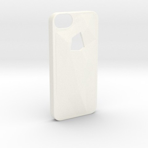 Modèle 3D gratuit Faceted iPhone 5/5s Case - Version 1, Fischfluous