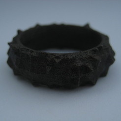 IMG_0333.JPG Download STL file Facets Ring - Part 1 • 3D printing design, Fischfluous