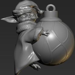 ZBrush ScreenGrab01.jpg Download STL file Baby Yoda Christmas • 3D print design, 3dbyalex