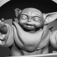 ZBrush ScreenGrab08.jpg Télécharger fichier STL Bébé Yoda • Plan pour imprimante 3D, 3dbyalex