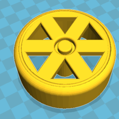 6 Rayos V.1 - 01.png Download STL file Wheels for toys or hobby mobiles • 3D print template, jcforni