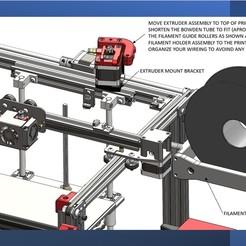 Ender-5_Extruder Mount-Filament Holder.jpg Télécharger fichier STL Kit de déménagement d'une extrudeuse et de gestion des filaments • Design pour impression 3D, a3rdDimension