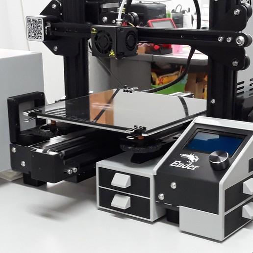 3_Ender-3_ST Mod.jpg Download STL file Ender 3 Pro Storage Mod Kit • Object to 3D print, a3rdDimension