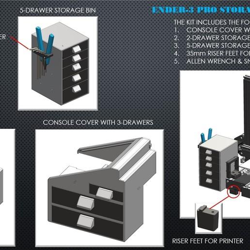 1_Ender-3_Cover.jpg Download STL file Ender 3 Pro Storage Mod Kit • Object to 3D print, a3rdDimension