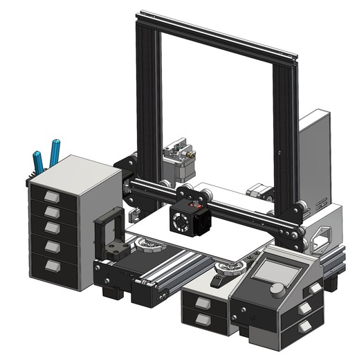 6_Ender-3_ST Mod.jpg Download STL file Ender 3 Pro Storage Mod Kit • Object to 3D print, a3rdDimension