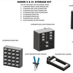 0_Ender 5 Storage Kit.jpg Download STL file Ender 5 & 5 Plus Storage Kit • 3D printer template, a3rdDimension