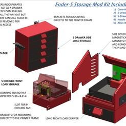 1-Ender-5 Storage Mod Kit Complete List.jpg Download STL file Ender-5 Storage Mod Kit • 3D printing object, a3rdDimension