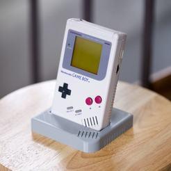 Download 3D printer designs Nintendo Game Boy DMG Display Stand, aardimus