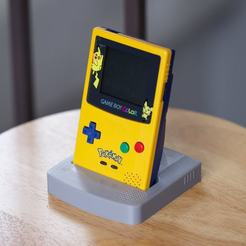 IMG_0510 (1).jpeg Download STL file Nintendo Game Boy Color GBC Display Stand • 3D printer design, aardimus