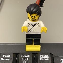 Download free STL file Logitech K120 Lego Minifig holder • 3D printer model, rgm67