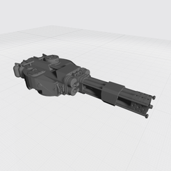 Tiger Turrent Ver3 Flamer.png Download free STL file Tiger Turret Space Fighter Flamer • 3D print design, War_Spike