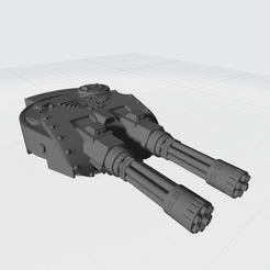 Tiger Turrent Ver4 Gatling.png Download free STL file Tiger Turret Space Fighter Gatling • 3D printer object, War_Spike