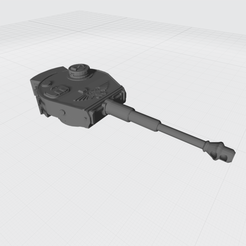 Tiger Turrent Ver1 Canon deco.png Download free STL file Tiger Turret Space Fighter Cannon • 3D printer template, War_Spike