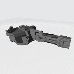 Tiger Turrent Ver2 Plasma A.png Download free STL file Tiger Turret Space Fighter Plasma • 3D printing template, War_Spike
